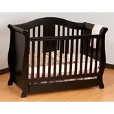 Vittoria Fixed Side Convertible Crib in Black