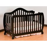 Monza Fixed Side Convertible Crib in Black