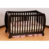 Monza II Fixed Side Convertible Crib in Black