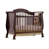 Valentia Fixed Side Convertible Crib in Espresso