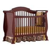 Valentia Fixed Side Convertible Crib in Cherry