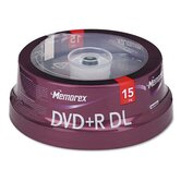 Dual - Layer DVD + R Discs, 15/Pack
