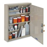 MMF Industries Dual-locking Steel Drug Cabinet, Sand