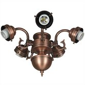Compact Fluorescent Decorative Scroll Ceiling Fan Light Fitter