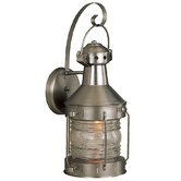 Large Nautical Brass Outdoor Wall Mount Lantern