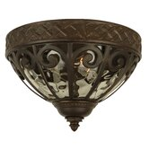 Olivier Outdoor  Flush Mount in Oiled Bronze