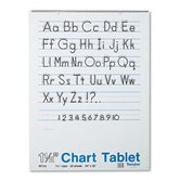 Chart Tablets w/Manuscript Cover, Ruled, White, 25 Sheets/Pad
