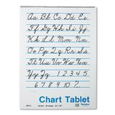 Chart Tablets, Unruled, White, 25 Sheets per Pad
