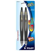 Gel Pen, Retractable, Fine Point, Black, 2-Pack