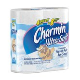 Charmin Ultra Soft Bath Tissue in White (10/pack)