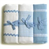 Tadpoles Classic Gingham Burp Cloth Set of 3