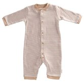 Tadpoles Organic Double Knit Cotton Footless Snap Front Romper in Cocoa