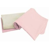 Tadpoles Organic Flannel Receiving Blankets in Pink (Set of 3)