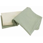 Tadpoles Organic Flannel Receiving Blankets in Sage (Set of 3)