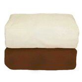 Tadpoles Organic Flannel Fitted Crib Sheets in Cocoa and Natural (Set of 2)