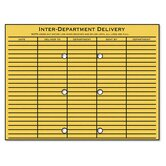 Brown Kraft Resealable Redi-Tac File-Style Interoffice Envelope, 12 x 9, 100/box