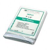 Redi-Strip Recycled Poly Mailer, First Class, 9 x 12, White, 100/pack