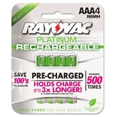 Platinum Rechargeable AAA NiMH Battery, 4/Pack