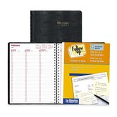 "Weekly Planner, 2-Part Crbnls, Bilingual, 11""x8-1/2"", Black, 2013"