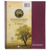 "Wirebound Notebook,1-Sub,11""x9"",100 SH,Assorted"