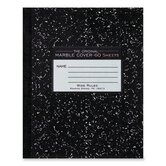 "Composition Book, Marble Design, 10""x8"", 60 Sheets, Black"