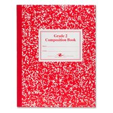Grade School Ruled Composition Book, 9-3/4 x 7-3/4, 50 Sheets, Red