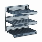 Mesh Three-Tier Letter Size Desk Shelf, 12-1/2w x 9-1/4d x 12-1/2h, BLK