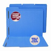 Water/Paper Cut-Resistant Folders, 2 Fasteners, 1/3 Cut, Top Tab, Ltr, BE, 50/Bx