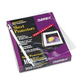 Top-Load Poly Ring Binder Sheet Protectors, Std Weight, Letter, 100/Box