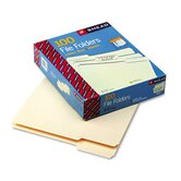 1/3 Cut Assorted One-Ply Top Tab File Folders, 100/Box