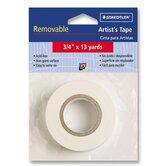 Artist's Tape, Nonglare, Removable, 3/4&quot;x13 yards, White