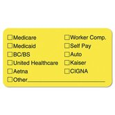 Labels f/Insurance List, 3-1/4 x 1-3/4, Fluor Chartreuse, 250/Pack