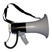 Megaphone, 800-Yard Range, Adjustable Volume, Gray/Blue