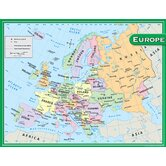 Europe Map Chart 17x22