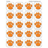 Orange Paw Print Stickers