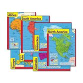 Continents Learning Charts, 17&quot;x22&quot;, Multicolor