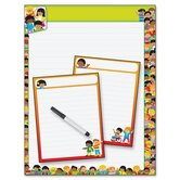 Reusable Three Chart TREND Kids Writing Paper Wipe-Off Kit