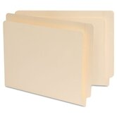 Manila Reinforced Shelf Folder, 100/Box