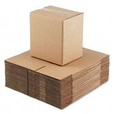 Corrugated Kraft Fixed-Depth Shipping Carton,25/Bundle