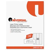 Laser Printer Permanent Labels, 1500/Box