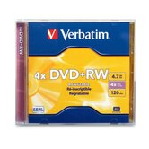 DVD+RW, w/ Jewel Case, 1x-4x Recording Speed, 4.7GB