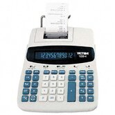 1220-4 Desktop Calculator, 12-Digit Fluorescent, Two-Color Printing
