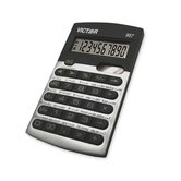 Calculator, 10-Digit, Metric Conversion, Black/Silver