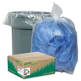 Earthsense Commercial Recycled Can Liners, 31-33 Gal, 1.25 Mil, 100 Per Carton