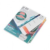 Multi-Dex Quick Reference Index, 10-Tab, Letter (Set of 10)