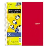 Five Star Wirebound 5-Subject Notebook, College Rule, Letter, 200 Sheets