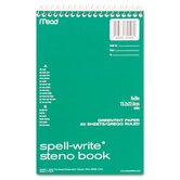 Spell-Write Steno Book, Gregg Rule, 6 x 9, Green, 80 Sheets/Pad