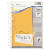 Academie Wirebound Sketch Diary, 9 x 6, White, 70 Pages