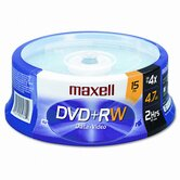 Spindle Dvd+Rw Discs, 4.7Gb, 4X, 15/Pack