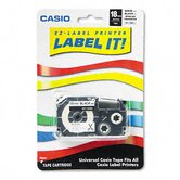 Label Printer Iron-On Transfer Tape, 18mm, Black on White